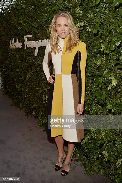 Actress Cody Horn attends as Ferragamo Celebrates 100 Years in Hollywood at the newly unveiled Ferragamo boutique on September 9 2015 in Beverly...