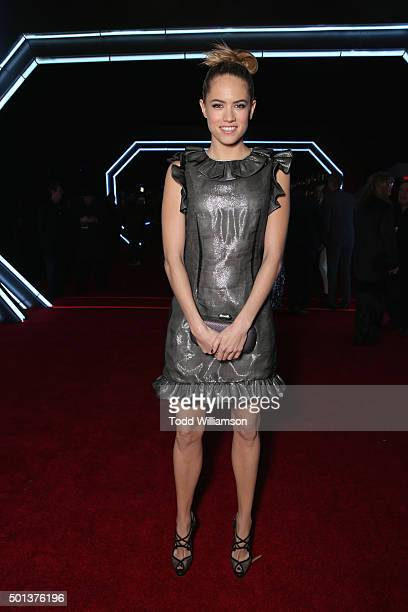 Actress Cody Horn attends the Premiere of Walt Disney Pictures and Lucasfilm's Star Wars The Force Awakens on December 14 2015 in Hollywood California
