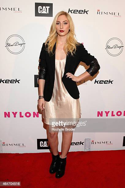 Actress Cody Kennedy attends NYLON Magazine's Spring Fashion Issue Celebration hosted by Rita Ora at Blind Dragon on February 27, 2015 in West...