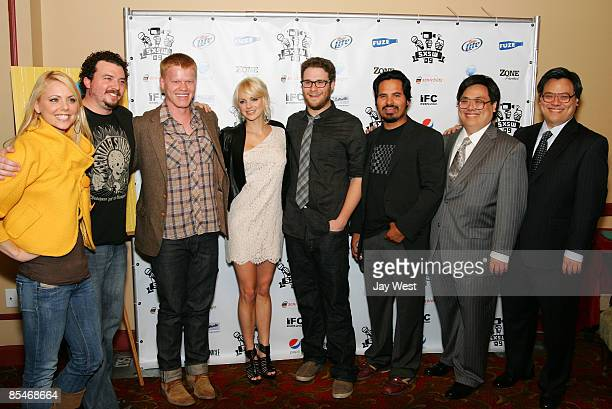 Actress Collette Wolfe Actor Danny McBride Actor Jesse Plemons Actress Anna Faris Actor Seth Rogen and Actor Michael Pena Actor John Yuan and Actor...