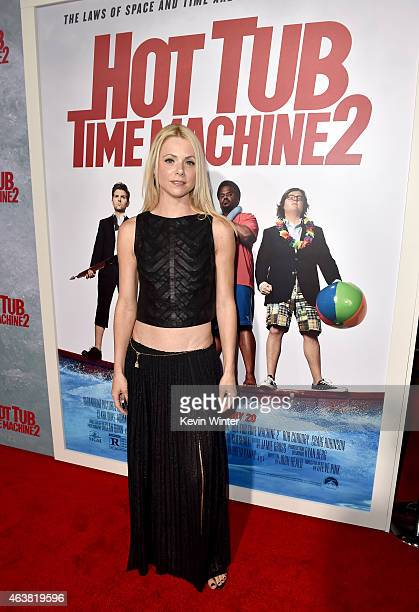 Actress Collette Wolfe attends the premiere of Paramount Pictures' Hot Tub Time Machine 2 at Regency Village Theatre on February 18 2015 in Westwood...