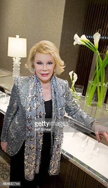 Actress comedian and writer Joan Rivers attends Michigan Avenue Magazine Celebrates Its Women Of Influence May/June Issue With Joan Rivers at Neiman...