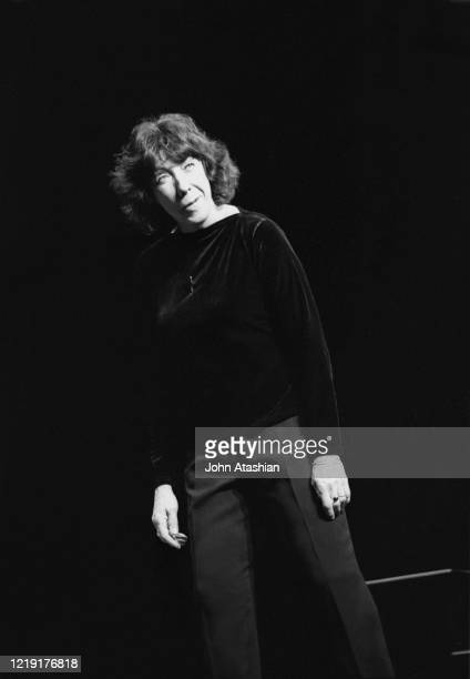 "Actress, comedian, writer, and producer Lily Tomlin is shown performing on stage during a ""live"" stand up comedy show on November 21, 1999. ""n"