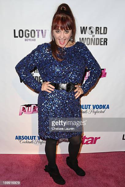 Actress / comedienne Julie Brown arrives at RuPaul's Drag Race season 5 premiere party at The Abbey on January 22 2013 in West Hollywood California