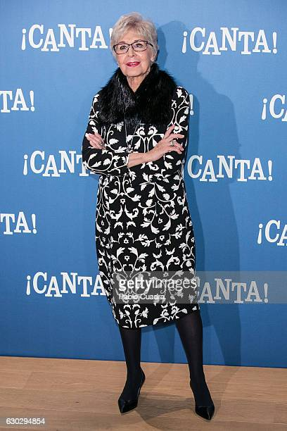 Actress Concha Velasco attends 'Canta' photocall at Urso Hotel on December 20 2016 in Madrid Spain