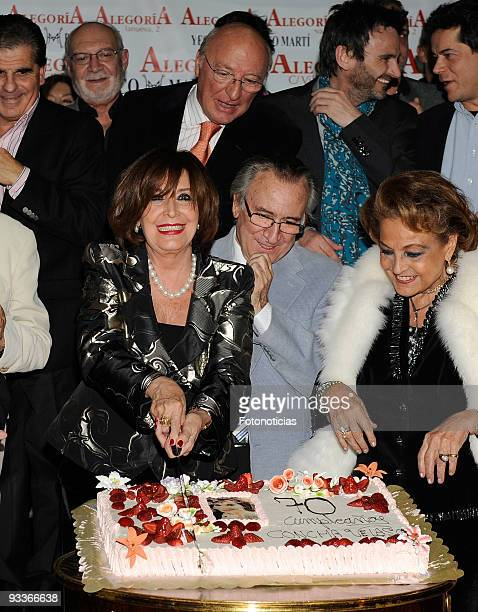 Actress Concha Velasco celebrates her 70th birthday at Alegoria Club on November 24 2009 in Madrid Spain