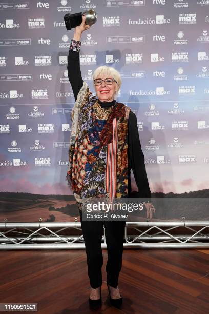 Actress Concha Velasco receives the Honorary Max award during the MAX 2019 awards ceremony at the Calderon Theater on May 20 2019 in Valladolid Spain