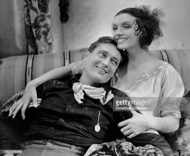 Actress Conchita Montenegro and Edmund Lowe in a scene from the movie The Cisco Kid