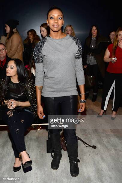 Actress Condola Rashad attends Adeam fashion show during MercedesBenz Fashion Week Fall 2014 at The Pavilion at Lincoln Center on February 8 2014 in...