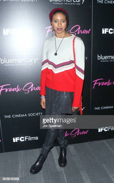 Actress Condola Rashad attends the premiere of IFC Films' 'Freak Show' hosted by The Cinema Society and Bluemercury at Landmark Sunshine Cinema on...