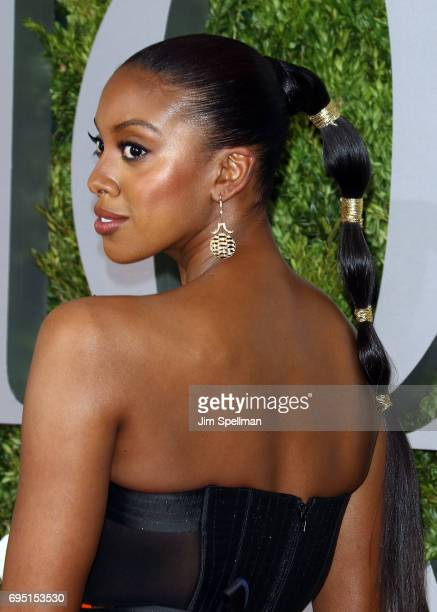 Actress Condola Rashad hair detail attends the 71st Annual Tony Awards at Radio City Music Hall on June 11 2017 in New York City