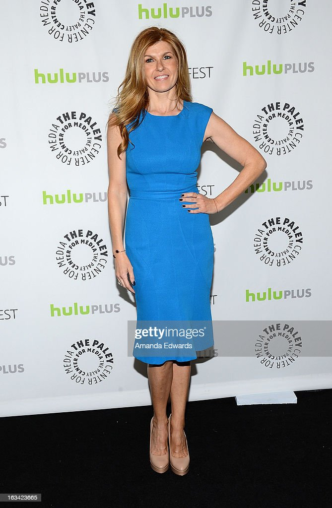 Actress Connie Britton arrives at the 30th Annual PaleyFest: The William S. Paley Television Festival featuring 'Nashville' at the Saban Theatre on March 9, 2013 in Beverly Hills, California.
