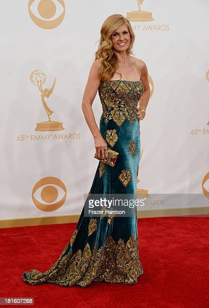Actress Connie Britton arrives at the 65th Annual Primetime Emmy Awards held at Nokia Theatre LA Live on September 22 2013 in Los Angeles California