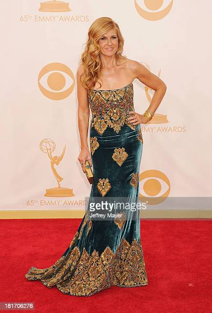 Actress Connie Britton arrives at the 65th Annual Primetime Emmy Awards at Nokia Theatre L.A. Live on September 22, 2013 in Los Angeles, California.