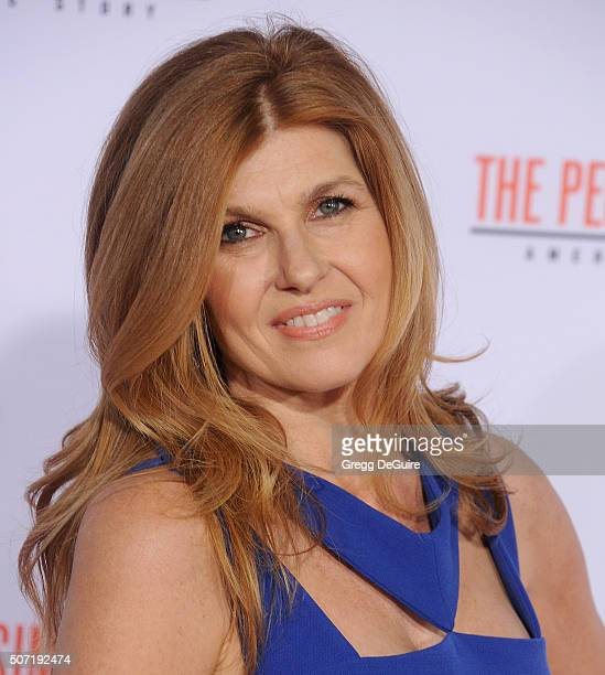 Actress Connie Britton arrives at the premiere of 'FX's 'American Crime Story The People V OJ Simpson' at Westwood Village Theatre on January 27 2016...
