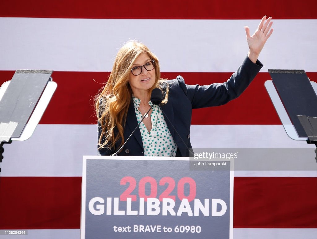 NY: Actress Connie Britton Attends Sen. Kirsten Gillibrand Kickoff Rally