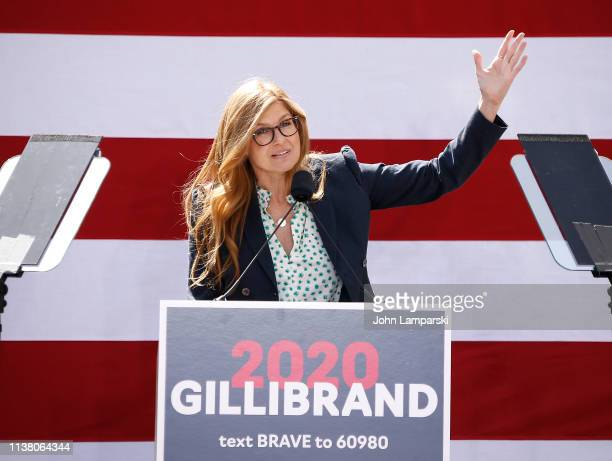 Actress Connie Britton attends Sen Kirsten Gillibrand kickoff rally on March 24 2019 in New York City