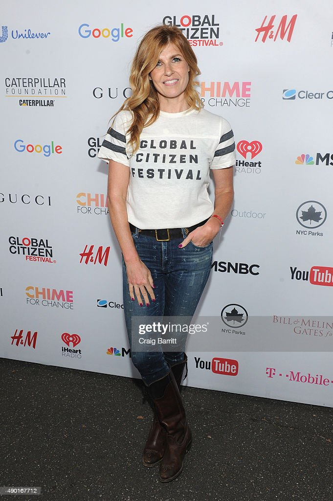 Actress Connie Britton attends the 2015 Global Citizen Festival to end extreme poverty by 2030 in Central Park on September 26, 2015 in New York City.