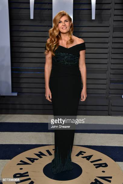 Actress Connie Britton attends the 2018 Vanity Fair Oscar Party hosted by Radhika Jones at Wallis Annenberg Center for the Performing Arts on March 4...