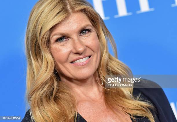 US actress Connie Britton attends the Hollywood Foreign Press Associations Annual Grants Banquet in Beverly Hills California on August 9 2018