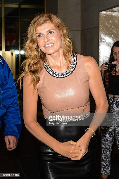 Actress Connie Britton leaves the 'Today Show' taping at the NBC Rockefeller Center Studios on August 13 2015 in New York City
