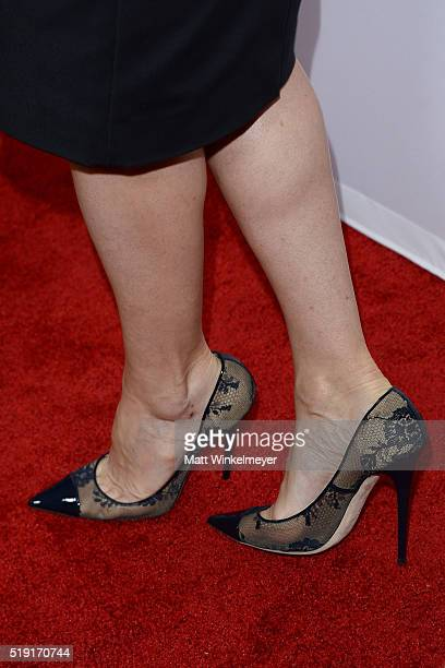 Actress Connie Britton shoe detail arrives at FX's For Your Consideration Event for The People v OJ Simpson American Crime Story at The Theatre at...