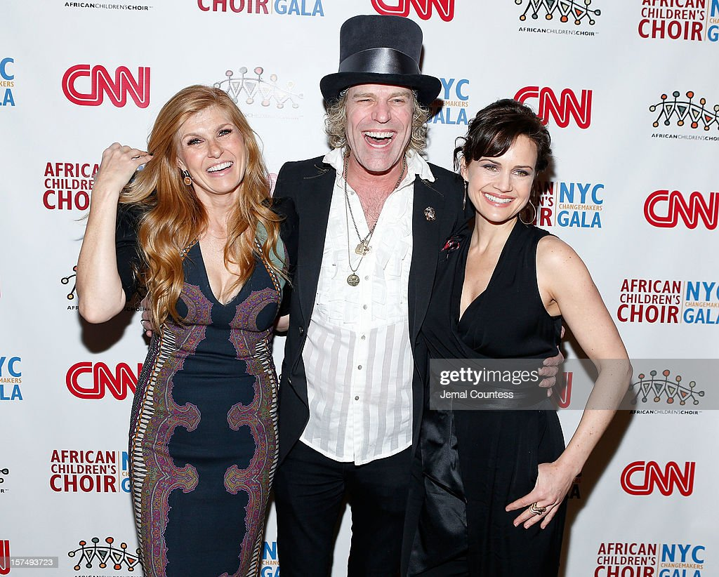 Actress Connie Britton, singer Big Kenny and actress Carla Guigino attend 4th Annual African Children's Choir Fundraising Gala at City Winery on December 3, 2012 in New York City.