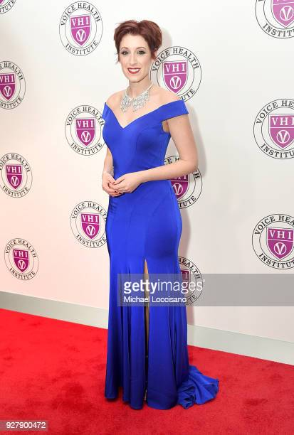 Actress Connie Fisher attends the red carpet arrivals for the 'Raise Your Voice' concert at Alice Tully Hall Lincoln Center on March 5 2018 in New...