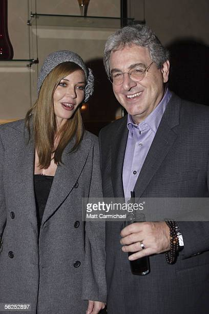 Actress Connie Nielsen and Director Harold Ramis during the after party for the Focus Features premiere of The Ice Harvest November 21 2005 in...
