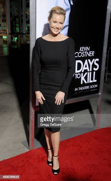 Actress Connie Nielsen arrives at the Los Angeles premiere of 3 Days To Kill at ArcLight Cinemas on February 12 2014 in Hollywood California
