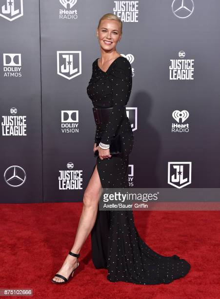 Actress Connie Nielsen arrives at the premiere of Warner Bros Pictures' 'Justice League' at Dolby Theatre on November 13 2017 in Hollywood California