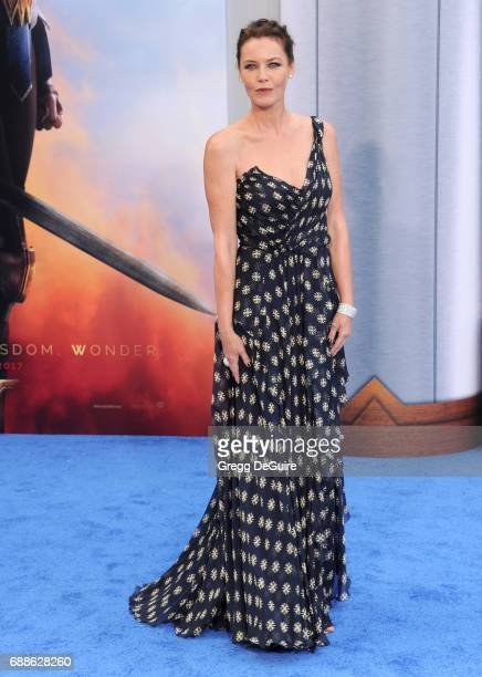 Actress Connie Nielsen arrives at the premiere of Warner Bros Pictures' Wonder Woman at the Pantages Theatre on May 25 2017 in Hollywood California