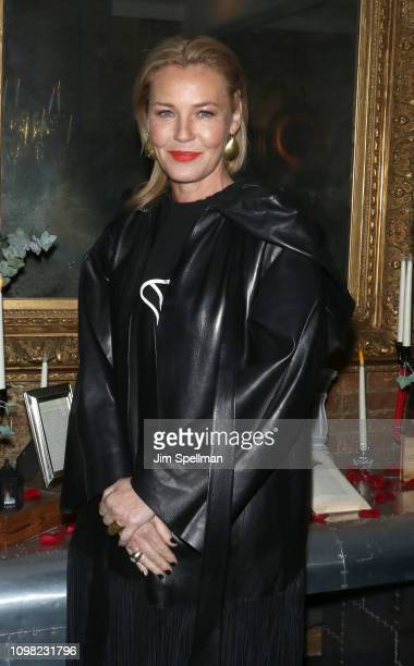 """Actress Connie Nielsen attends the New York premiere after party for TNT's """"I Am The Night"""" at 214 Lafayette Street on January 22, 2019 in New York..."""