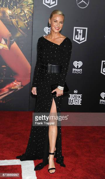 Actress Connie Nielsen attends the premiere of Warner Bros Pictures' Justice League held at the Dolby Theatre on November 13 2017 in Hollywood...