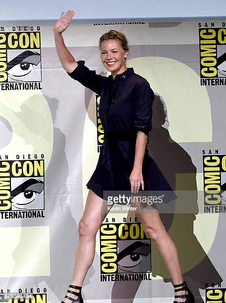Actress Connie Nielsen attends the Warner Bros Presentation during ComicCon International 2016 at San Diego Convention Center on July 23 2016 in San...