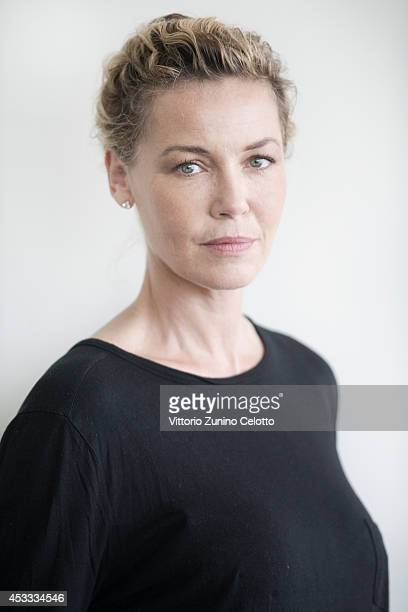 Actress Connie Nielsen poses on August 7 2014 in Locarno Switzerland