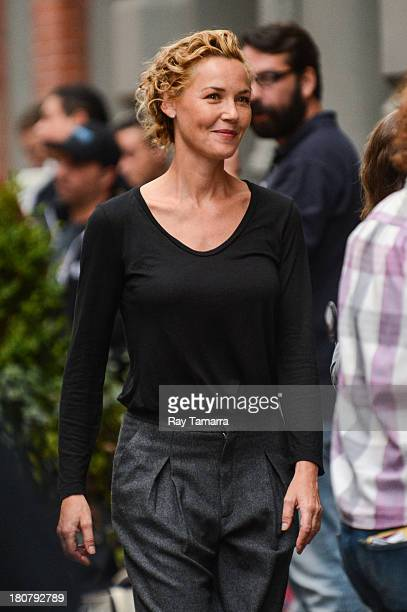 Actress Connie Nielsen seen on the set of 'The Following' in Soho on September 16 2013 in New York City