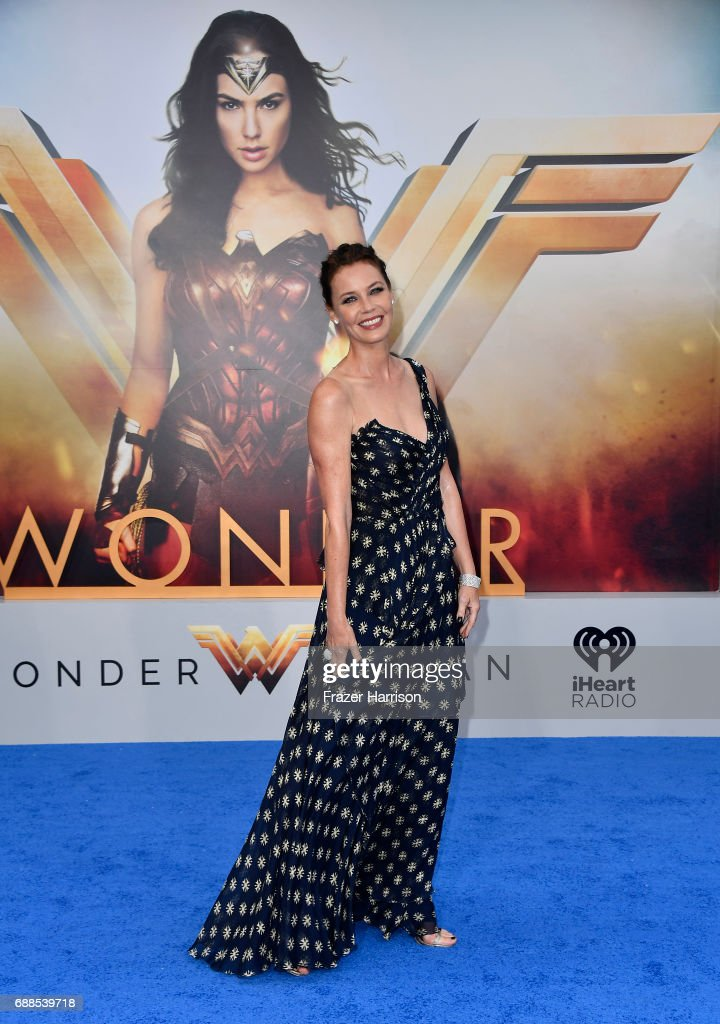 Actress Connie Nielson arrives at the Premiere Of Warner Bros. Pictures' 'Wonder Woman' at the Pantages Theatre on May 25, 2017 in Hollywood, California.