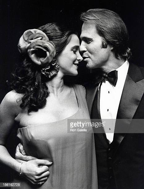 Actress Connie Sellecca and actor Gil Gerard attending 'Party for 33rd Annual Primetime Emmy Awards' on September 13 1981 at the Bonaventure Hotel in...