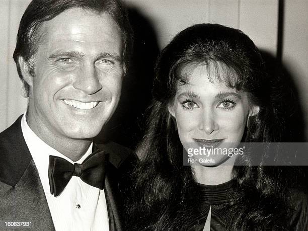 Actress Connie Sellecca and actor Gil Gerard attending The Fabulous Image Makers Awards Gala on March 27 1982 at the Pasadena Civic Auditorium in...