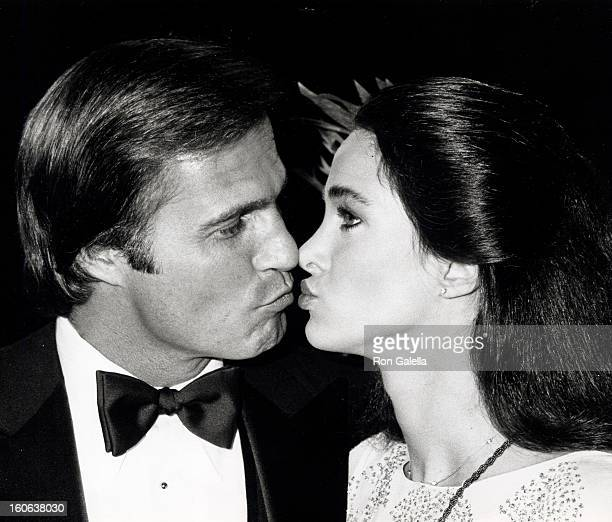 Actress Connie Sellecca and actor Gil Gerard attending the taping of 'Celebrity Challenge of the Sexes' on March 23 1980 at Mt Sac Gym at San Antonio...