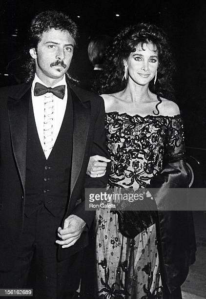 Actress Connie Sellecca and brother attending 'Carousel of Hope Ball' on October 13, 1984 at Currigan Hall in Denver, Colorado.