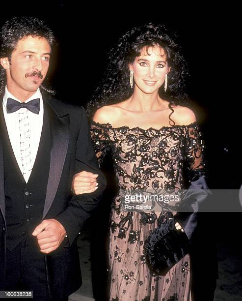 Actress Connie Sellecca and guest attend the 1984 Carousel of Hope Ball on October 13 1984 at Currigan Hall in Denver Colorado