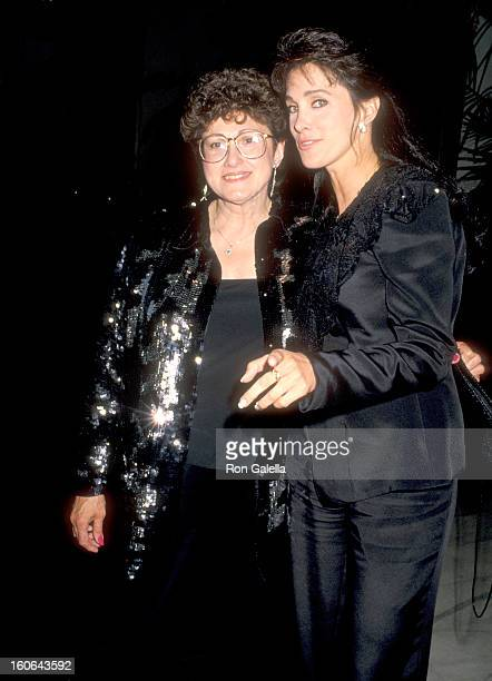 Actress Connie Sellecca and mother Ann Sellecchia attend the ABC Television Affiliates Party on June 14 1990 at Century Plaza Hotel in Los Angeles...