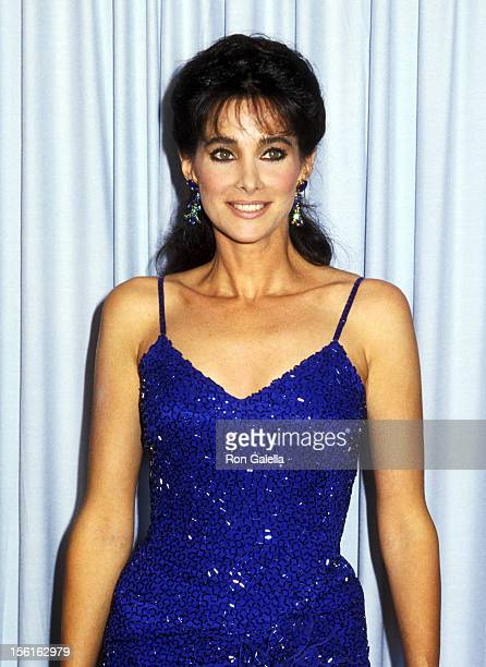 Actress Connie Sellecca attends the 37th Annual Primetime Emmy Awards on September 22 1985 at Pasadena Civic Auditorium in Pasadena California