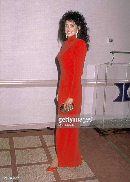 Actress Connie Sellecca attends the 45th Annual Golden Globe Awards on January 23, 1988 at Beverly Hilton Hotel in Beverly Hills, California.