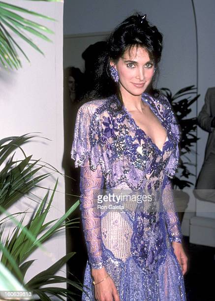 Actress Connie Sellecca attends the Hollywood Walk of Fame Ceremony Honoring Stephen J Cannell on January 14 1986 at 7000 Hollywood Boulevard in...