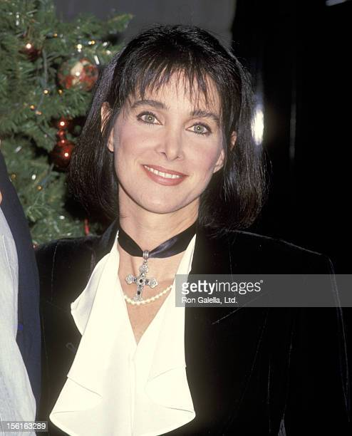 Actress Connie Sellecca attends the Party to Celebrate John Tesh Receiving His First Gold Record for the Album 'A Romantic Christmas' on October 28...