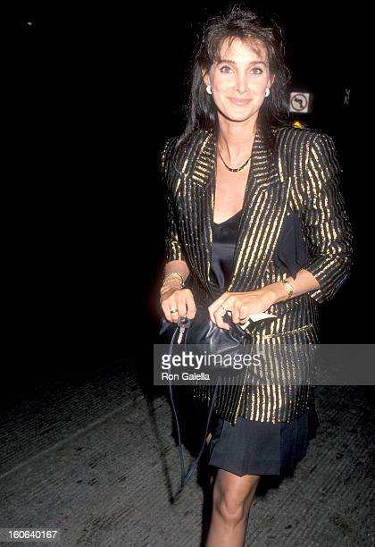 Actress Connie Sellecca on May 26 1990 partying at Bar One in Los Angeles California