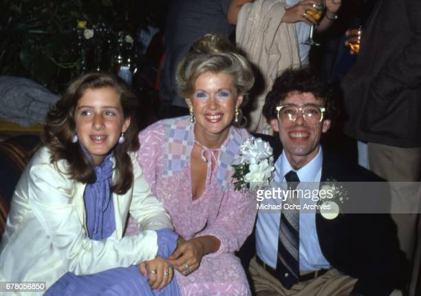 Actress Connie Stevens attends an event with her daughter Joely Fisher and stepson Todd Fisher in circa 1979